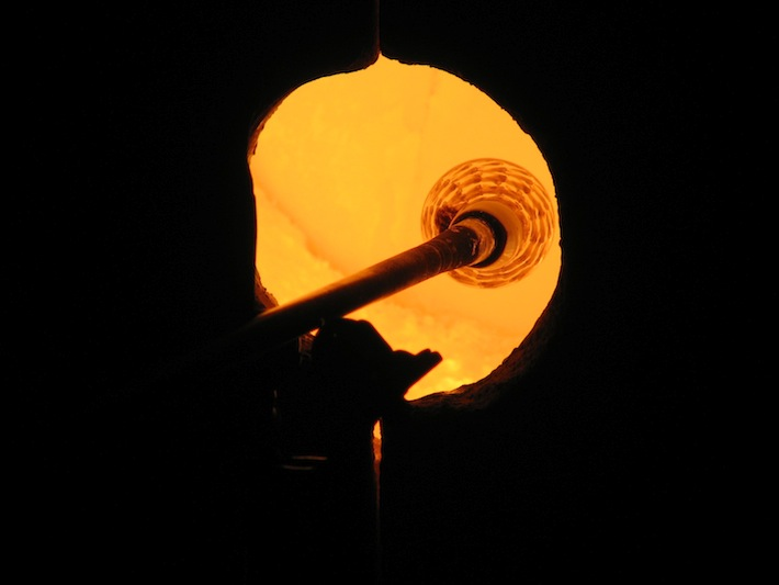 Glass Blowing Reheating